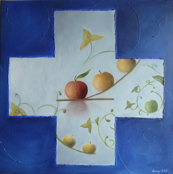 Les Pommes, Croix bleue