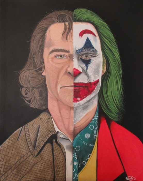 The Joker Colored Pencil drawing.