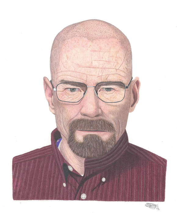 Walter White Colored Pencil drawing.