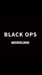 BLACK OPS Modeling (MB Bucky O'Brien as model)