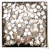 """Raspberries"", 2017. Plastic and paper on thin metal board (30x30cm). 100% reused material"