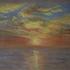 Sunset on the ocean - pastel