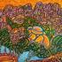 Le mistral souffle sur le rocher de Roquebrune sur Argens