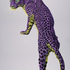 LEOPARD IN VIOLET & YELLOW, 202005