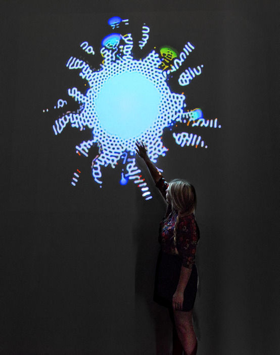 Ethan Turpin, Video Feedback: Pixel Behaviors #2, 2012, Interactive installation