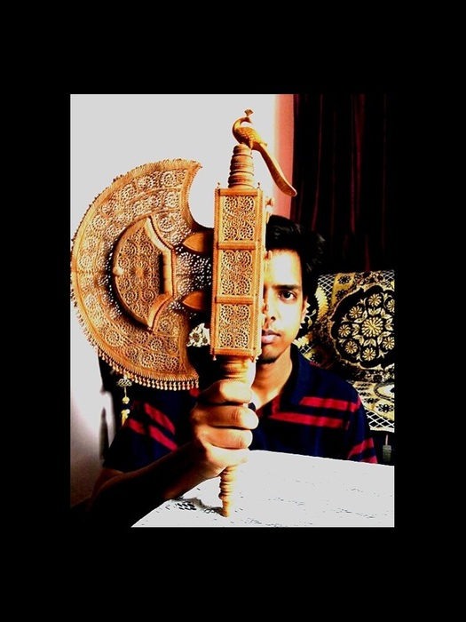 Sandalwood carving artist rohit jangid