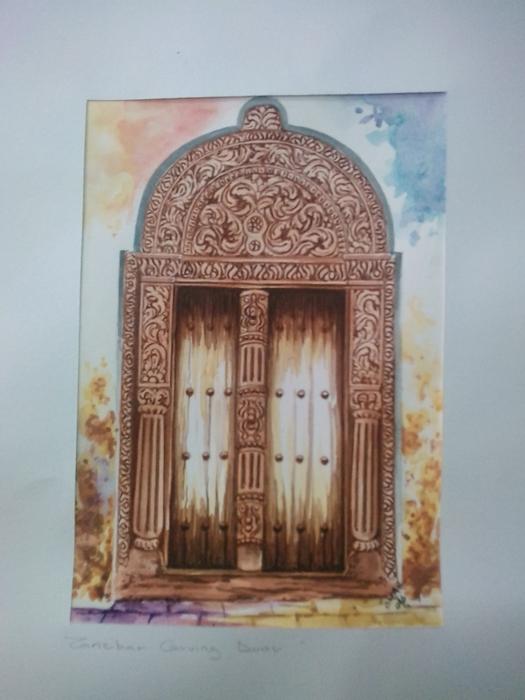 Zanzibar Door (Water Color)