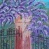 Overgrown Pillar with Wisteria