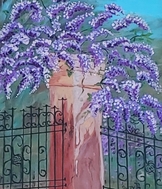 Wisteria and Pillar