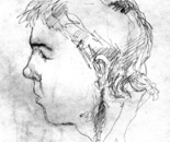 Sergy Eret, Drawing on paper, 19x14 cm.