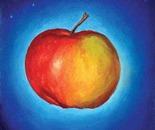 Apple, oil on canvas, 25,5x21 cm.