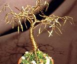 Golden Maple - Mini Wire Tree Sculpture