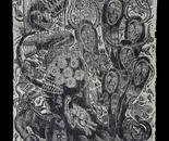 Kriangkrai Kongkhanun,Oceanic Wilderness 1,Woodcut,200x100 cm,2011