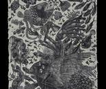 Kriangkrai Kongkhanun,Whirlpool 3,Woodcut,200x100 cm,2010