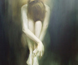 "Act I , ""Sorrow"" /Oil on canvas, 100x100 cm., 2010/"