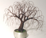 RUSTED BONSAI - Mini Tree Sculpture