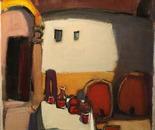 BACCHUS HOUSE II oil/canvas 60 x 60 cm, 2011; Nr. 11.39