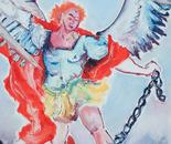 L'Archange terrassant le dragon ( d'après Guido Reni )