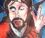 Le Christ portant sa croix ( d'après Solario Andréa )