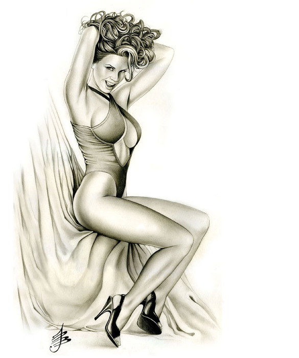 Mike hoffman sexy erotic pinup art exotic dancer