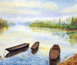 boats on the Loire river
