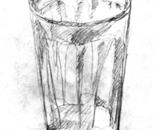 Sketch of cut glass