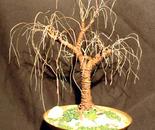 RUSTED OAK  No.2 - Mini Wire Tree Sculpture