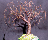 RUSTED WILLOW - Mini Wire Tree Sculpture