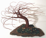 SLATED WIND SWEPT - Wire Tree Sculpture