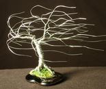 WIND SWEPT - Mini Wire Tree Sculpture