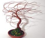 TERRA COTTA WIND SWEPT - Mini Wire Tree Sculpture