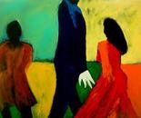 The boogieman 100x120x4 cm acrylic on canvast 2010