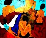 Dark angel 100x100x4 cm acrylic on canvas 2009