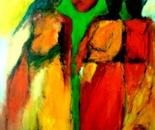 The sign of the cross 70x100x2 cm acrylic on canvas 2010