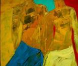 Les hommes des terre 50x70x4 cm acrylic on canvas 2010
