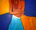 Thinking of paradise 70x100x2 cm acrylic on canvas 2009