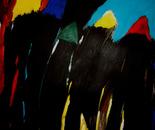Rush hour 70x90x2 cm acrylic on canvas 2009
