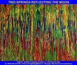 Two springs reflecting the moon