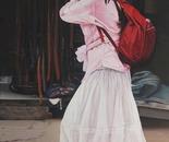 Girl in White Cap