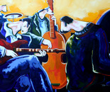 EL TOQUE. Acrilico sobre lienzo. 200 x 120 cm.