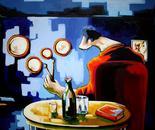 LA SILLA. acrilico sobre lienzo. 130 x 85 cm.