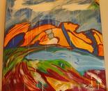 autumn landscape abstract