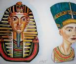 Tutankhamon e Nefertiti
