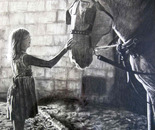 """Little Girl With Draft Horse"""