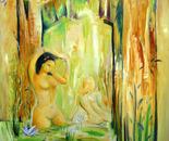 Sunlit bathers