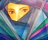 UNO SGUARDO (oil on canvas 57x57 cm)