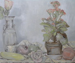 Still-life with a window plant