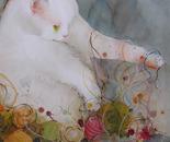La chatte qui tricote