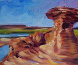 Daily Painting Style - oil - Hoo Doos of Drumheller