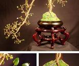 Jade Cascade #1 - Wire Tree Sculpture